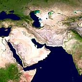 Western Asia,satellite image