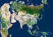 Asia,satellite image