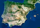 Iberian Peninsula,satellite image