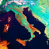 Satellite image of Italy,NOAA