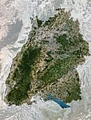 Satellite image of Baden-Wurttemberg,Germany