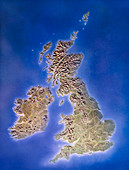 Relief map of the United Kingdom and Eire