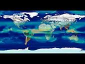 Monthly global precipitation,February