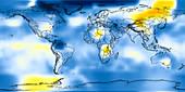 Global temperature anomalies 1916-1920