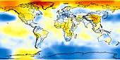Global temperature anomalies 1936-1940