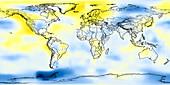 Global temperature anomalies 1956-1960