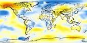 Global temperature anomalies 1976-1980