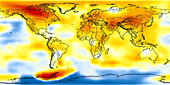 Global temperature anomalies 1996-2000
