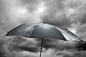 Wet umbrella,composite image