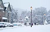 Heavy snowfall,Braemar,Scotland