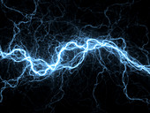 Bolt of lightning,computer artwork