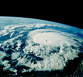 Hurricane Bonnie seen from space,STS-47