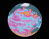 NSCAT image showing typhoons near Japan