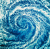 Space shuttle image of a Pacific cyclone