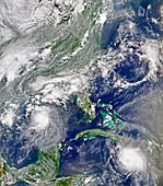 Hurricanes Bonnie and Charley