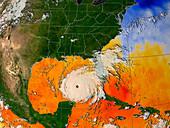 Hurricane Rita,sea temperatures