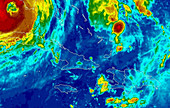 Hurricane Wilma and tropical storm Alpha
