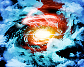 Eye of the storm,conceptual image