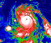 Hurricane Dean's landfall,21 August 2007