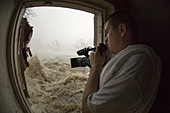 Photographer in hurricane Katrina