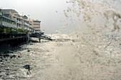 Storm surge by Hurricane Dean