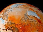 Arctic temperatures,1982-2002
