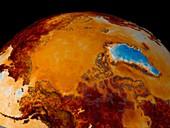 Arctic summer temperatures,1982-2002