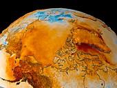 Arctic temperature anomaly,2002-2003