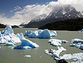 Glacial lake,Chile