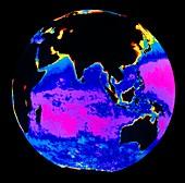 False colour image of the Indian Ocean
