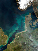 North Sea sediment,satellite image