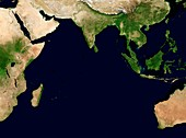 Indian Ocean,satellite image