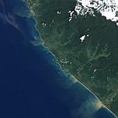 Indonesian coastline before 2004 tsunami