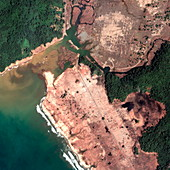Indonesian coastline,after 2004 tsunami