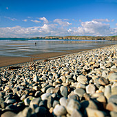Pebble and sand beach in Pembrokeshire,Wales