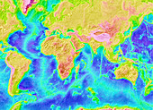 Atlantic and Indian ocean topography
