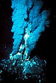 Black smoker submarine vent