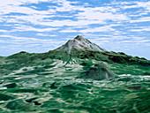 Mount Shasta,radar image