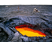 Lava flow research,Hawaii