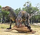 Tyrannosaurus rex dinosaurs,artwork