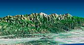 Mount Baldy,radar image