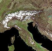 The Alps,satellite image