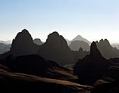 Hoggar Mountains at dawn