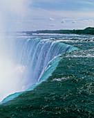Niagara Falls on the Canadian-American border