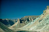 Band-i-Amir lakes in desert,Afghanistan