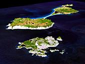 Saint Pierre and Miquelon,radar image