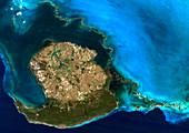 Isla de la Juventud,satellite image