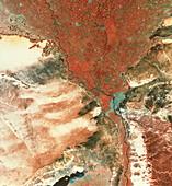 Landstat photo of Cairo & Nile delta