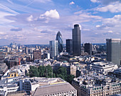 30 St Mary Axe and Tower 42,London,UK