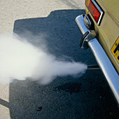 Car exhaust fumes